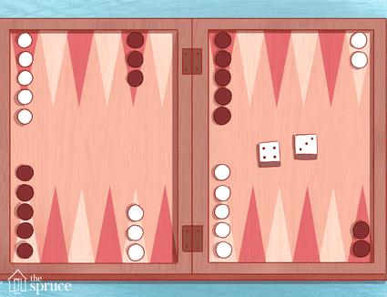 Illustration of a backgammon board