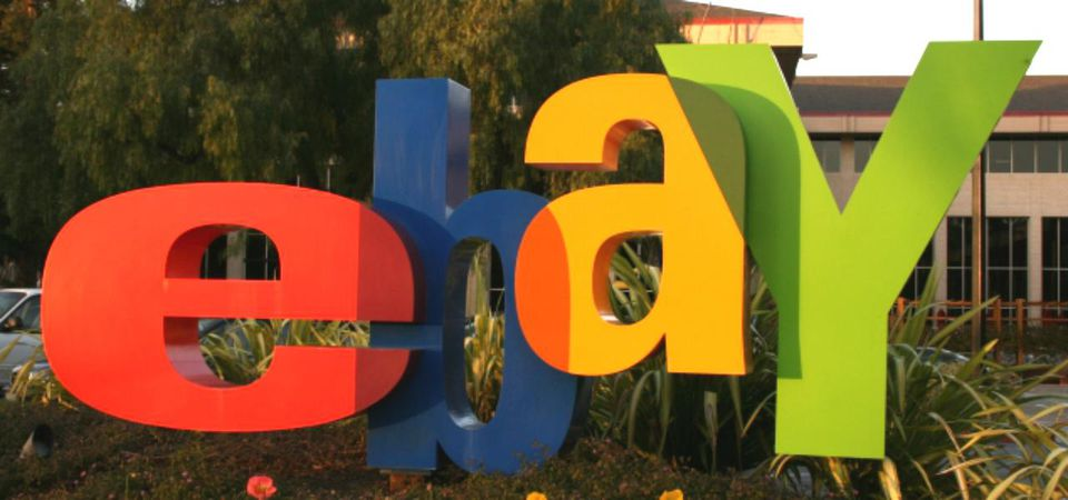 Close up of Ebay sign
