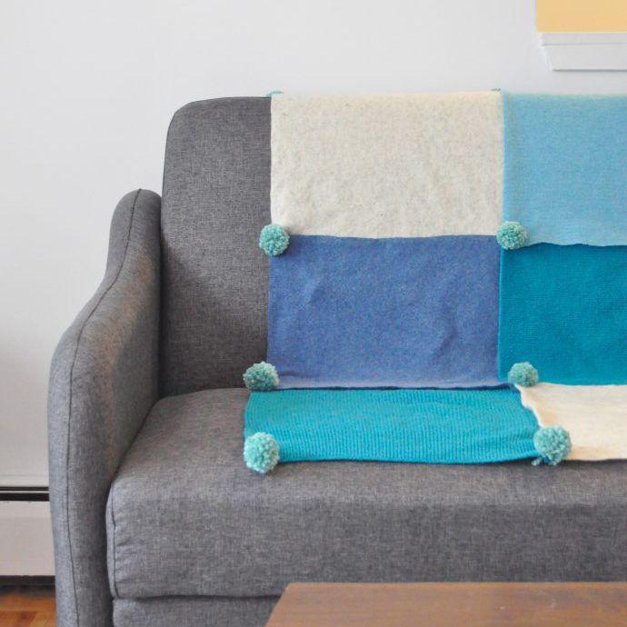 no sew felt throw blanket