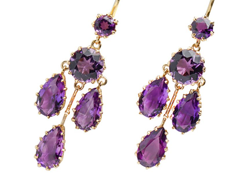 Antique Amethyst Girandole Earrings