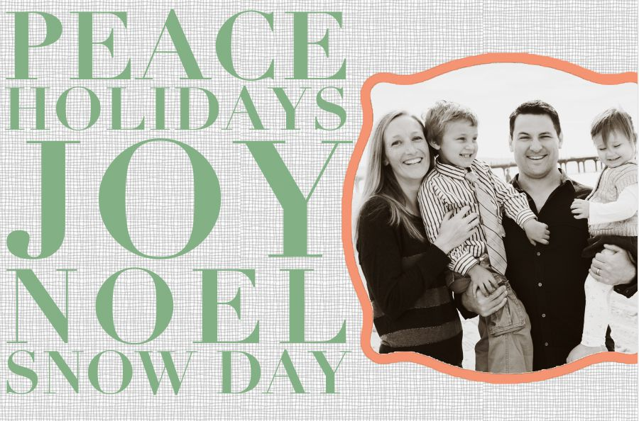 a christmas card template that says peace holidays joy noel snow