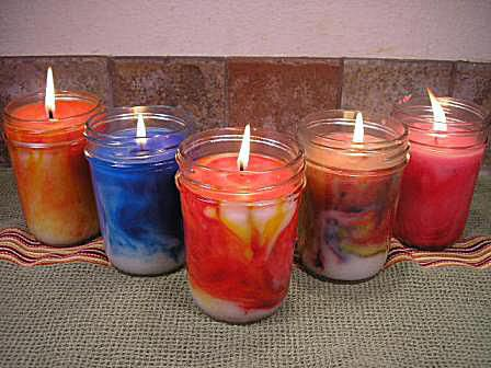Marbled Container Candles