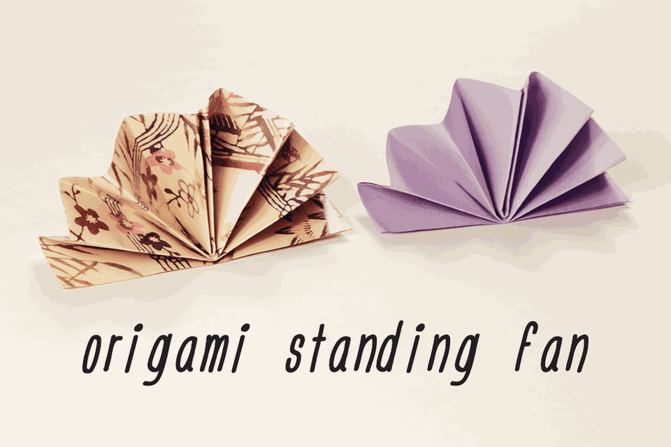Origami Standing Napkin Fan Tutorial