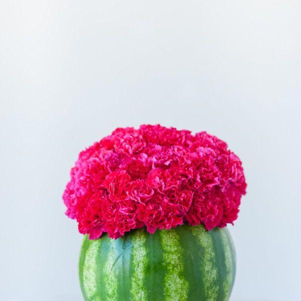DIY Watermelon Flower Vase
