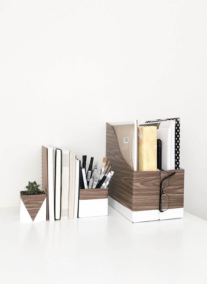 42 DIYs for a Beautiful & Organized Office