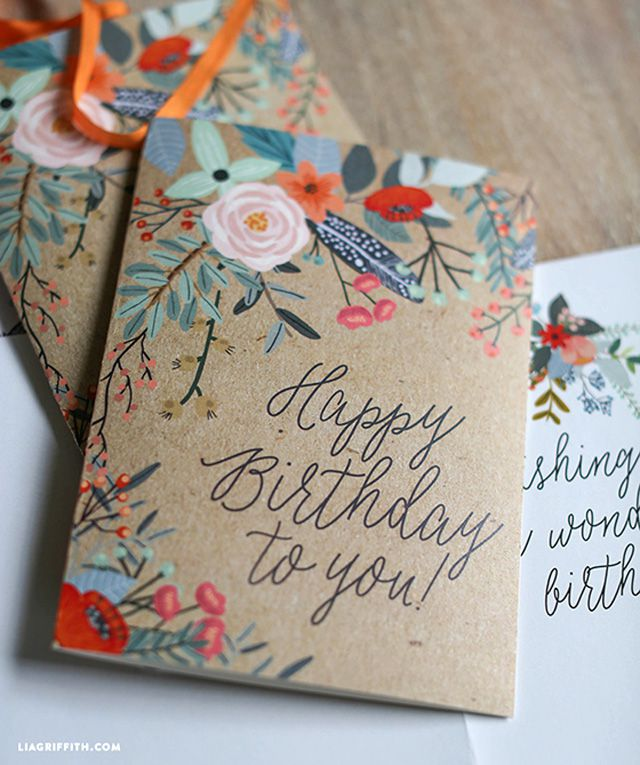 25 of the best diy birthday cards floral printable card m4hsunfo