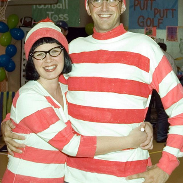 DIY Where's Waldo and Wilma costumes
