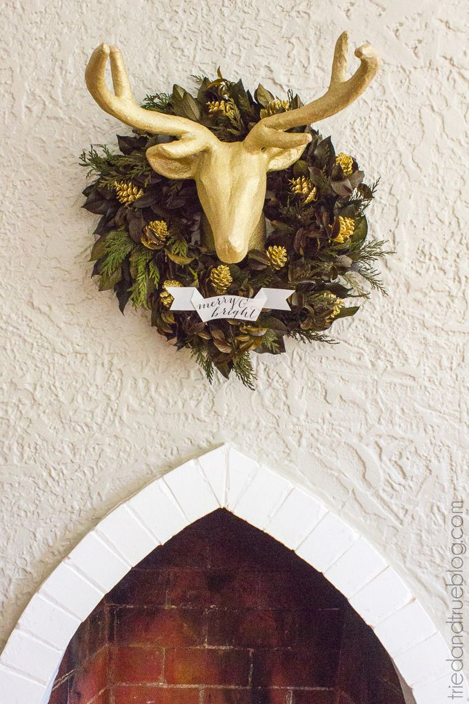 DIY Merry And Bright Wreath