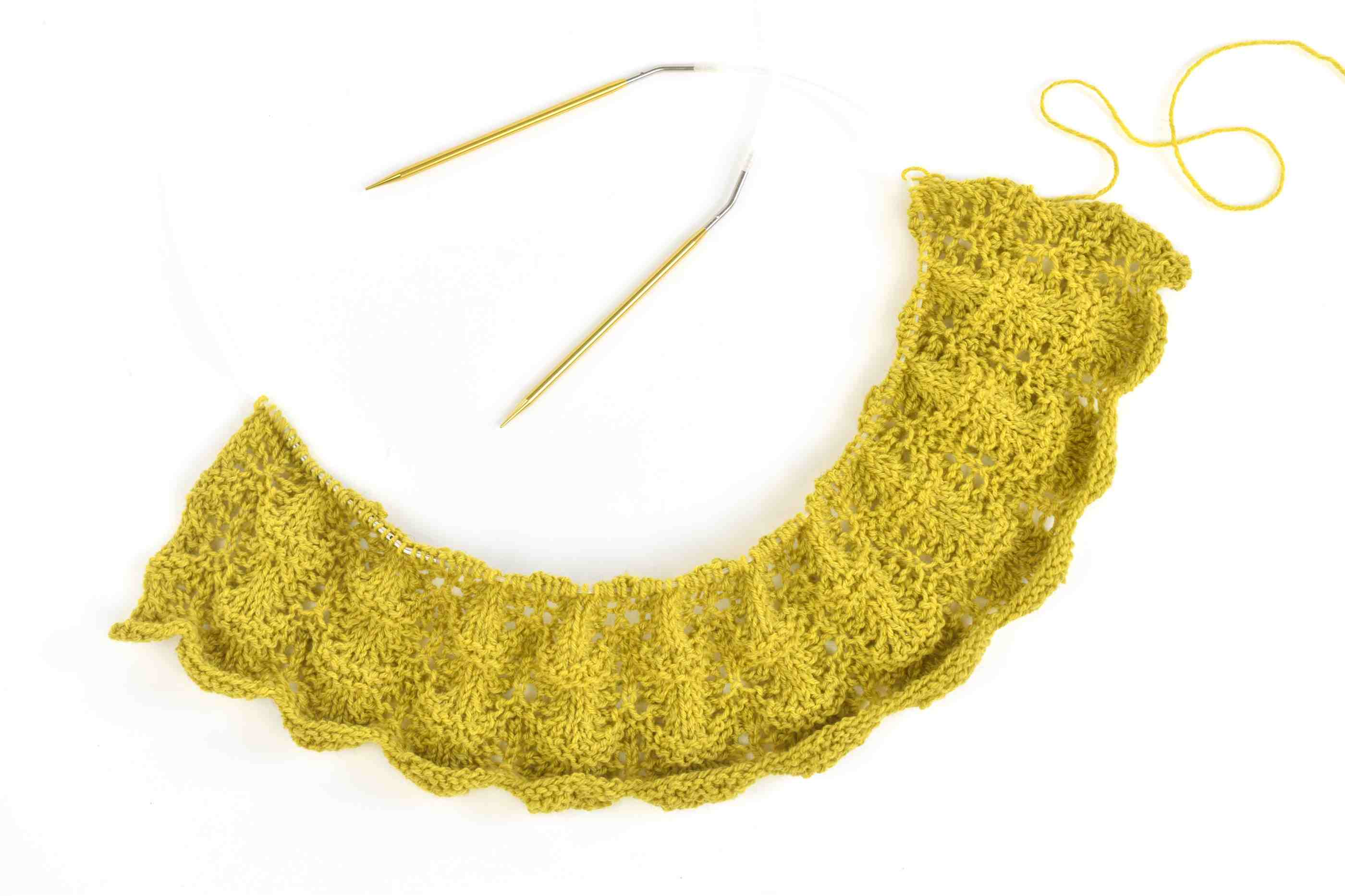 Knit the First Lace Section