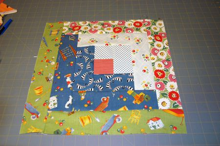 Easy Log Cabin Quilt Block Pattern
