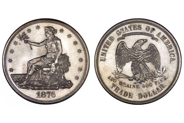 1876 Trade Silver Dollar