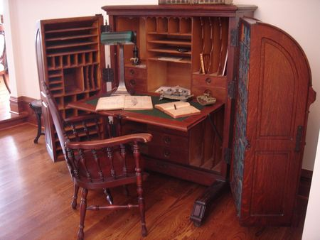 William S. Wooton Desk in The Queen Anne Mansion in Eureka Springs, Ark. - Identifying Antique Writing Desks And Storage Pieces