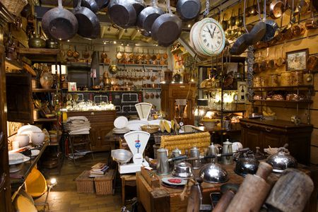 francois bacheliers in paris france filled with antique kitchen utensils - Old Kitchen
