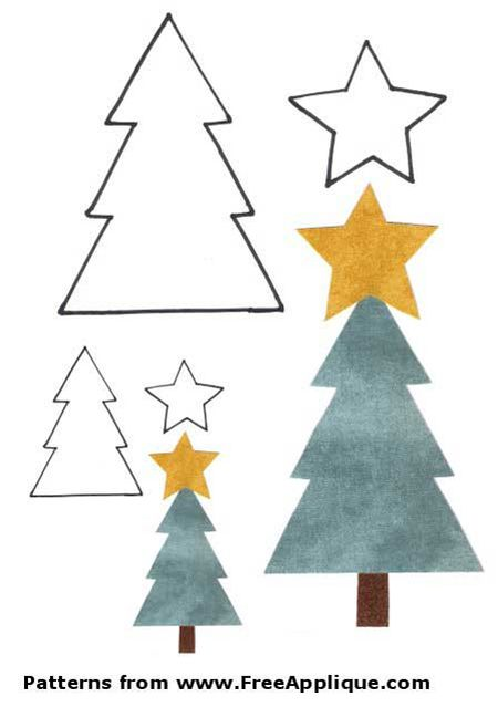 37 christmas tree templates in all shapes and sizes a christmas tree template with trees and stars maxwellsz