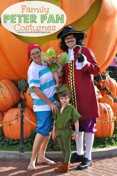 33 diy family halloween costume ideas peter pan costumes solutioingenieria Images