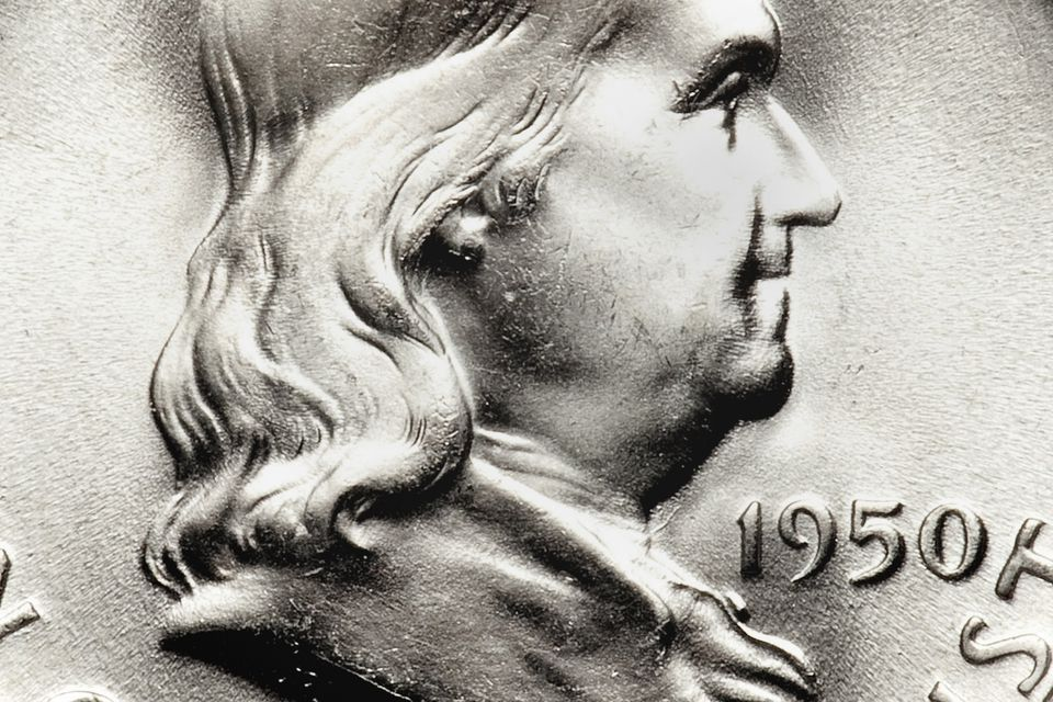 Franklin Half Dollar Obverse Close up