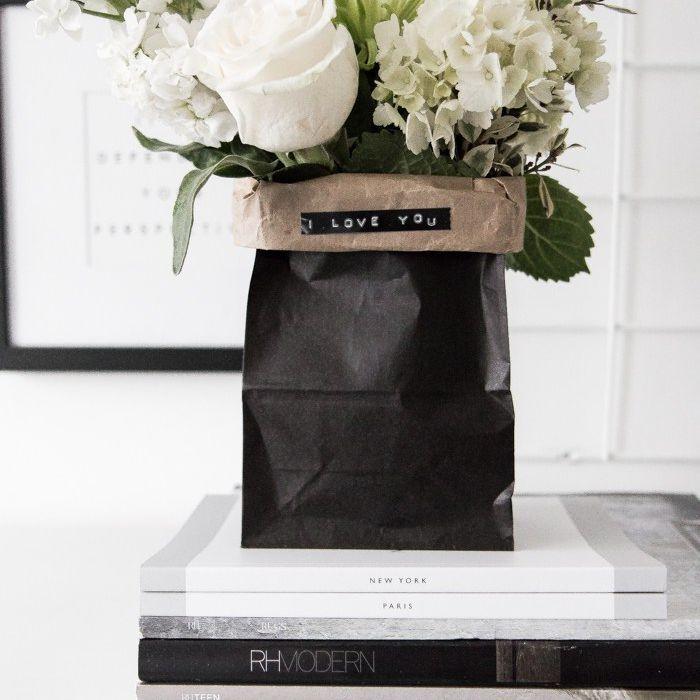 upscale paper bag vase