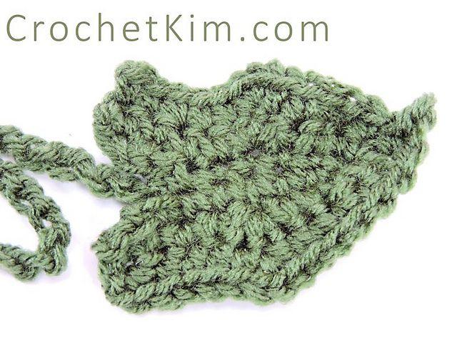 Pumpkin leaf crochet