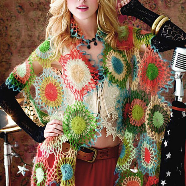 Join As You Go Crochet Shawl Pattern