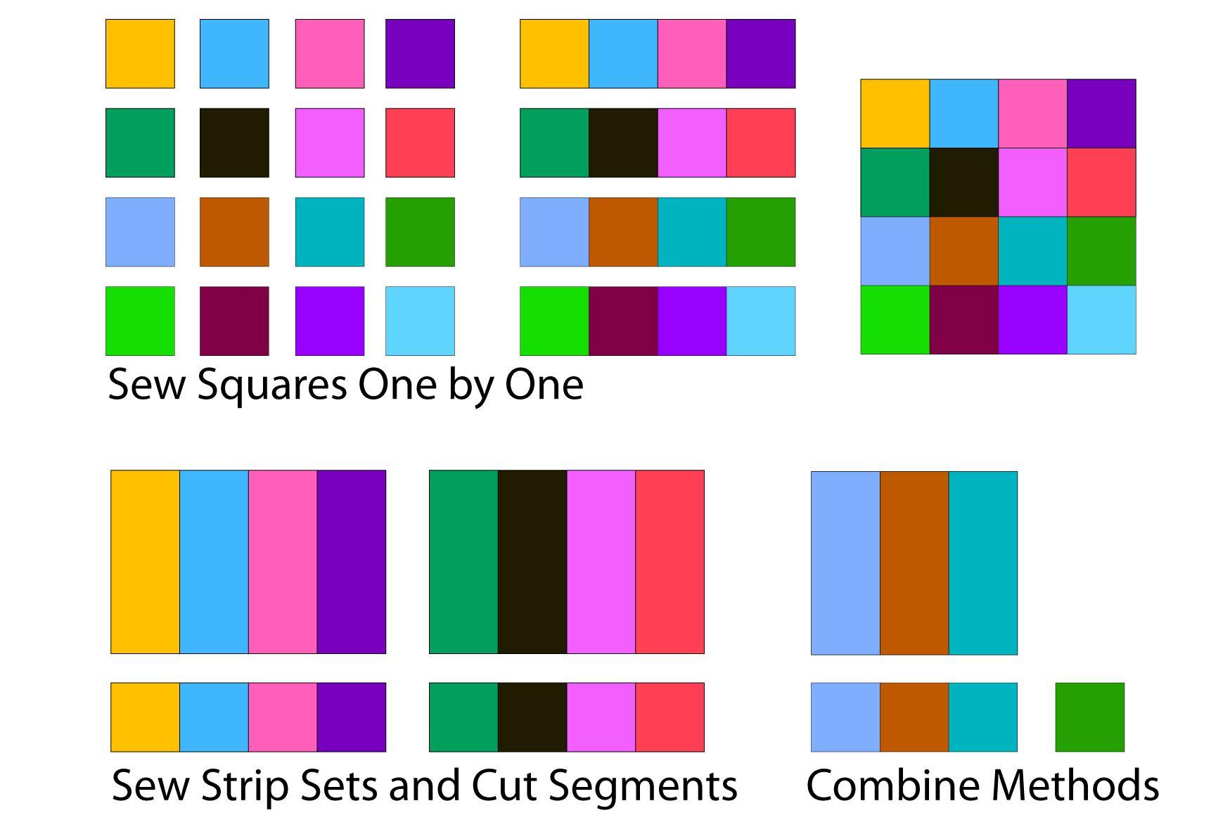 Sew Sixteen Patch Quilt Blocks