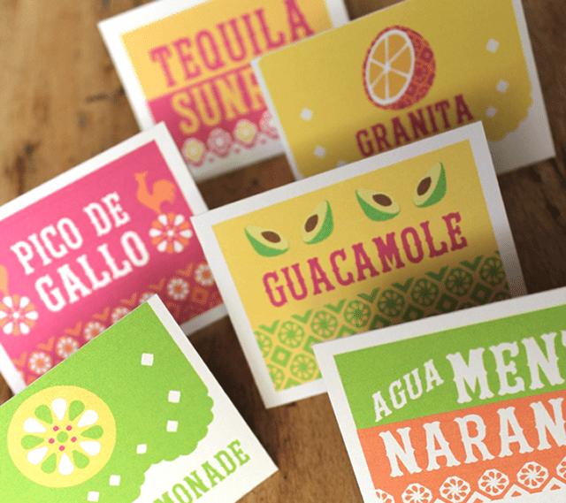 DIY Fiesta Food Signs