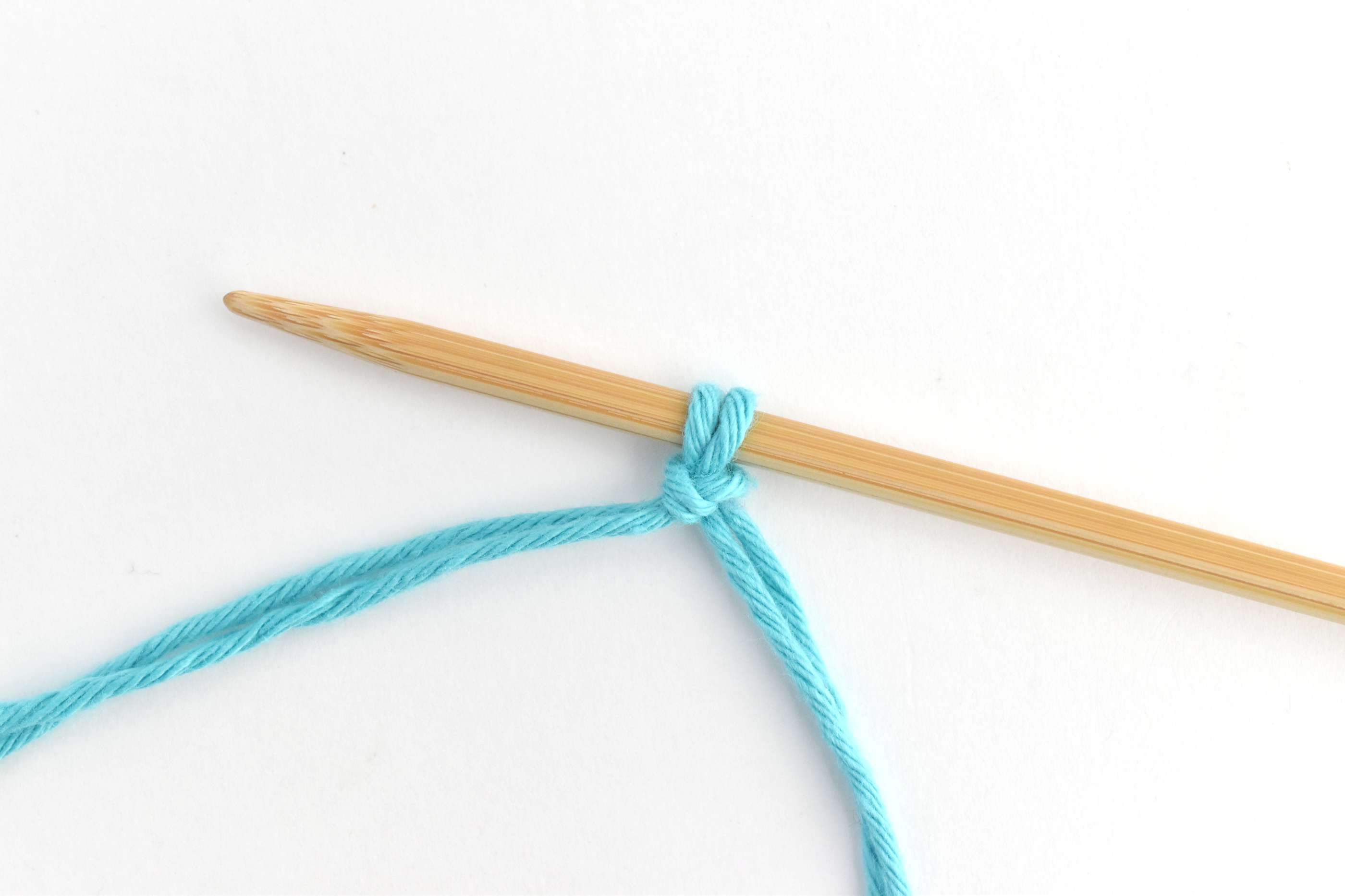 Place the Slip Knot on Your Knitting Needle
