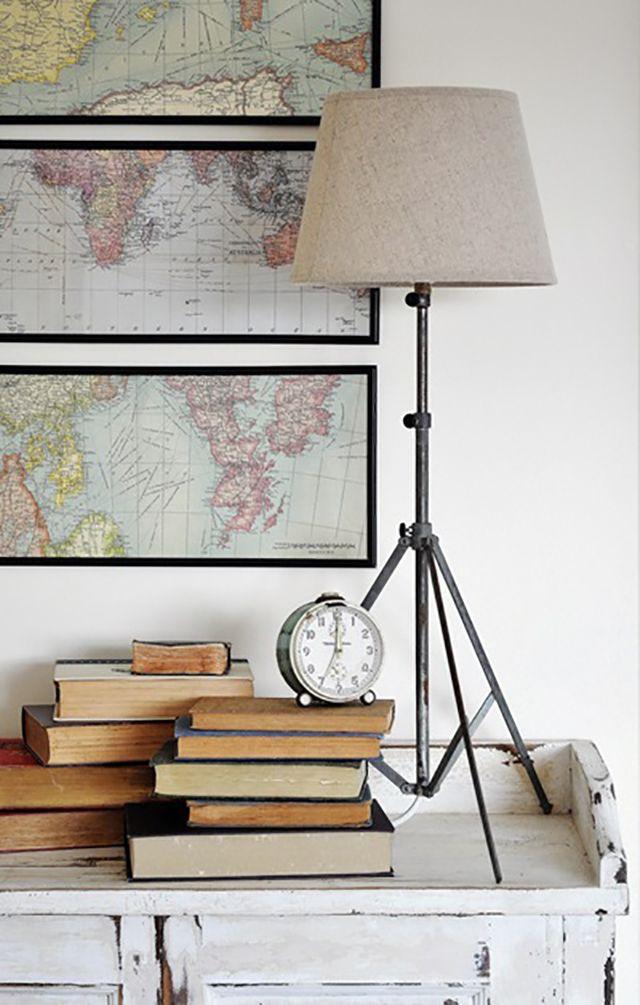 DIY lamp projects, tripod floor lamp