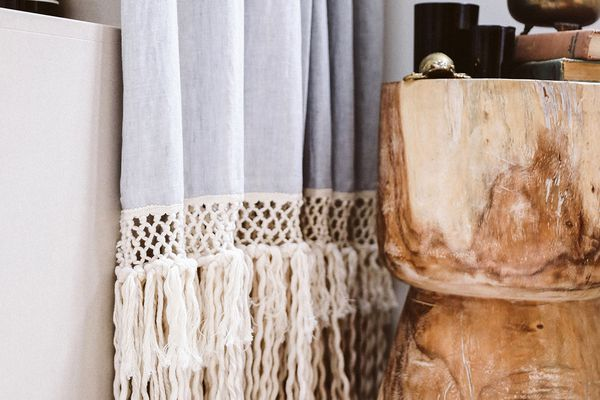 diy shower curtain idea