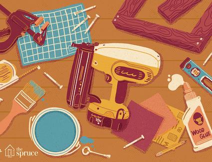 Illustration of a brad nailer