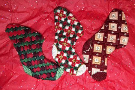 3 Hour Bargello Needlepoint Christmas Stockings