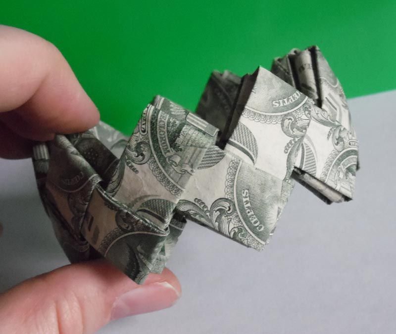 Instructions To Make A Dollar Origami Bracelet