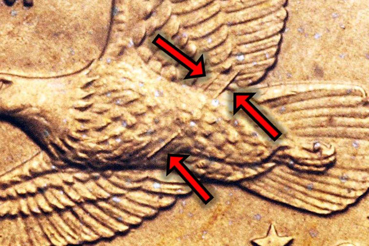 2000 P Wounded Eagle Variety