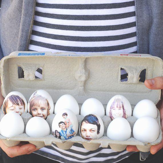 DIY Photo Easter Eggs
