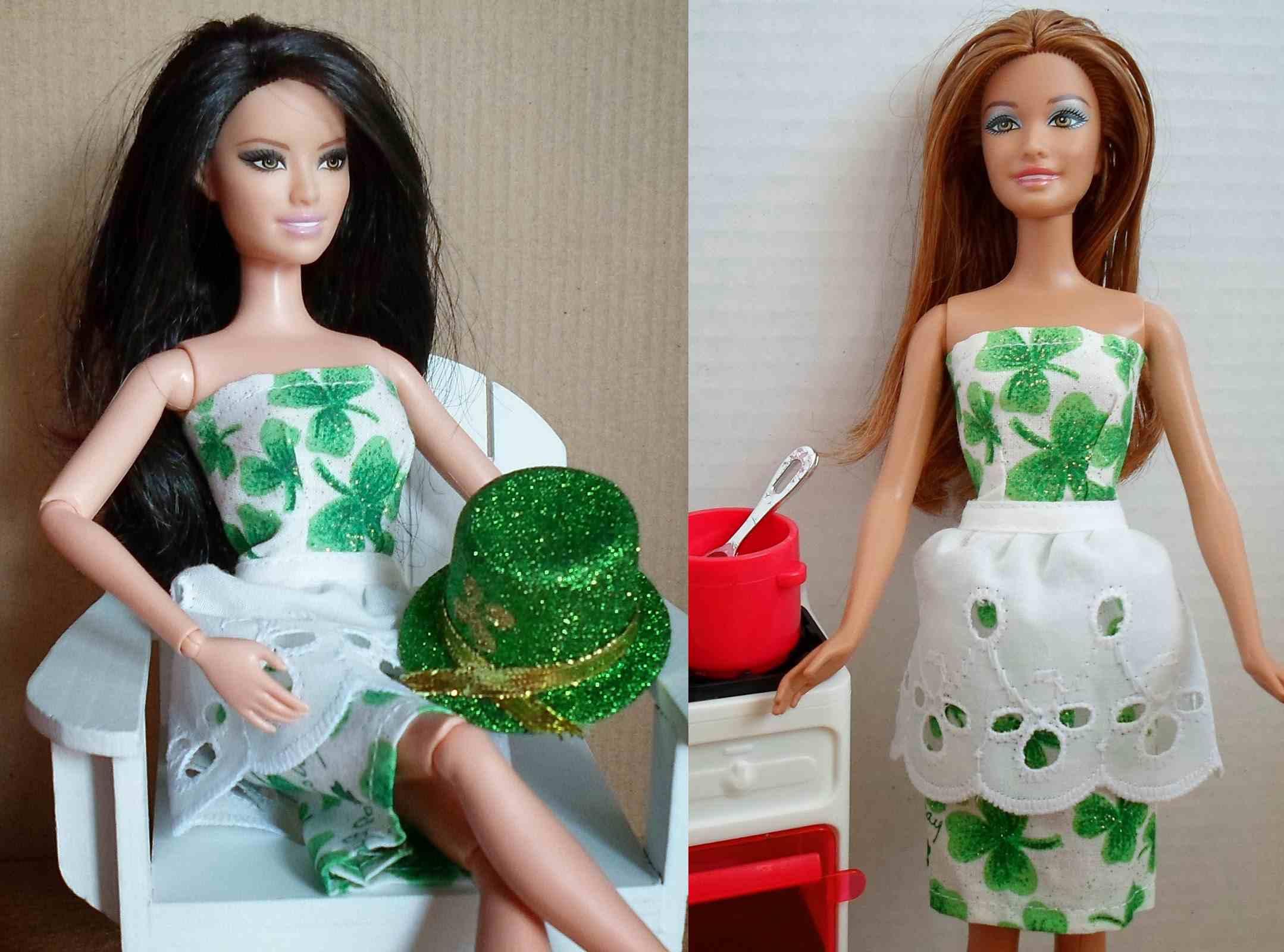 Strapless Peplum Dress for Barbie