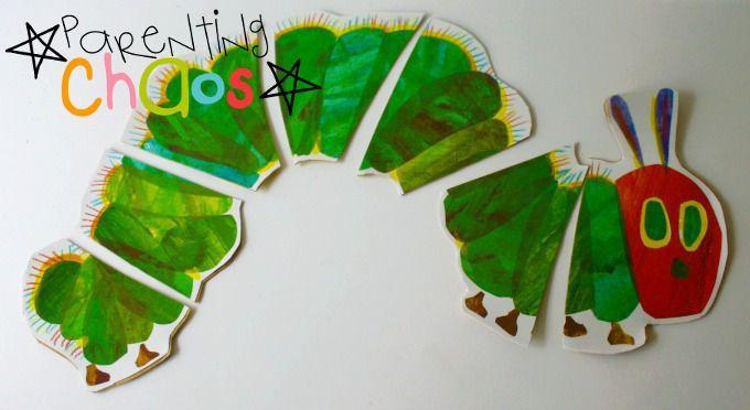 caterpillar puzzle craft