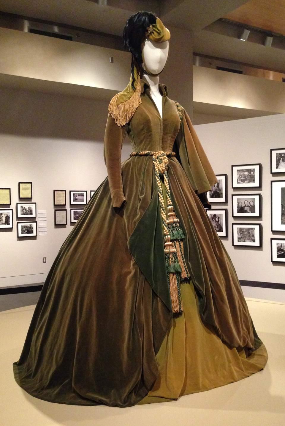 Scarlet O'Hara's Dresses Displayed After Restoration