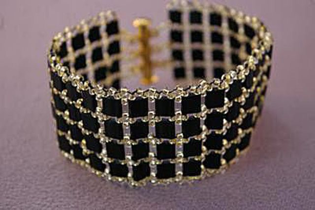 The Fancy Tila Bead Bracelet