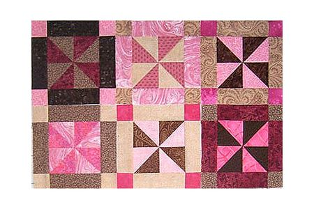 Easy Framed Pinwheels Quilt Block Pattern Enchanting 12 Inch Quilt Block Patterns