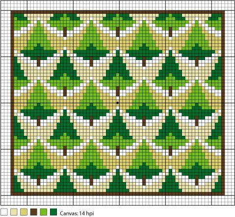 6 Free Bargello Needlepoint Patterns For The Weekend
