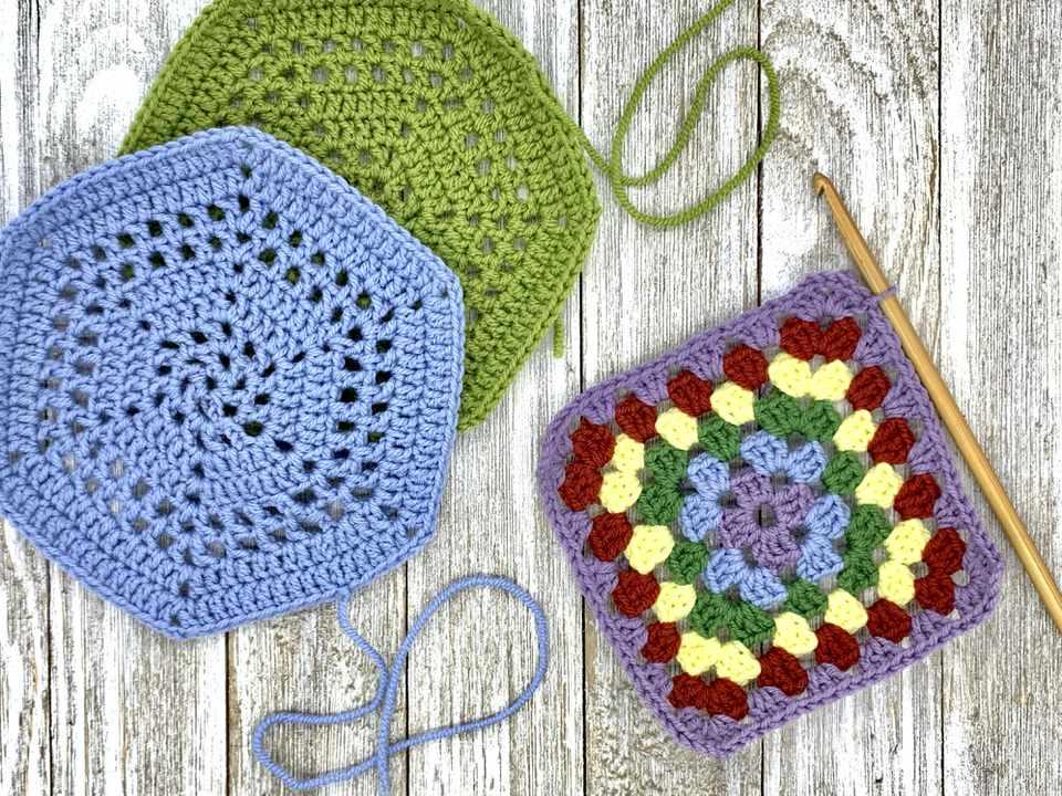 Handmade, colorful wool crochet craft