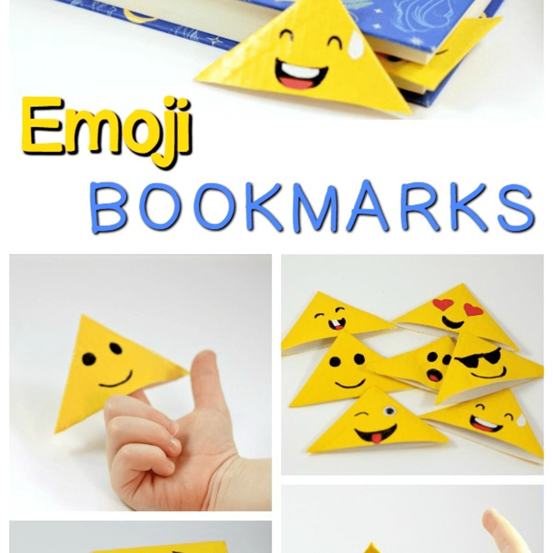 Duct tape emoji bookmarks
