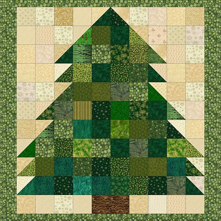 Miniature Patchwork Tree Quilt