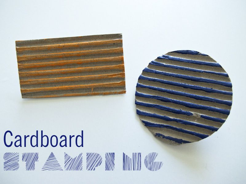 Stamping with cardboard