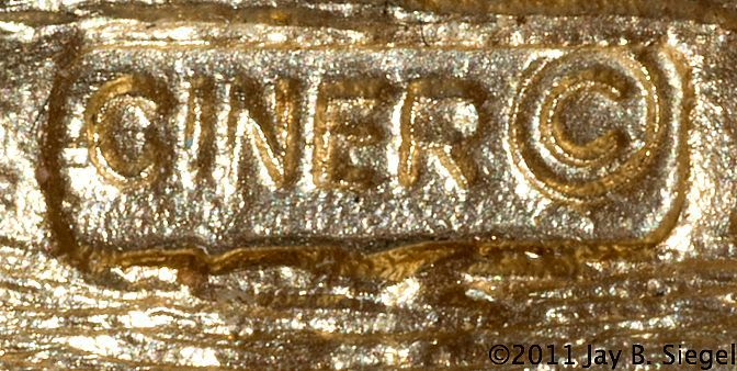 Ciner Manufacturing Company and Jewelry Marks