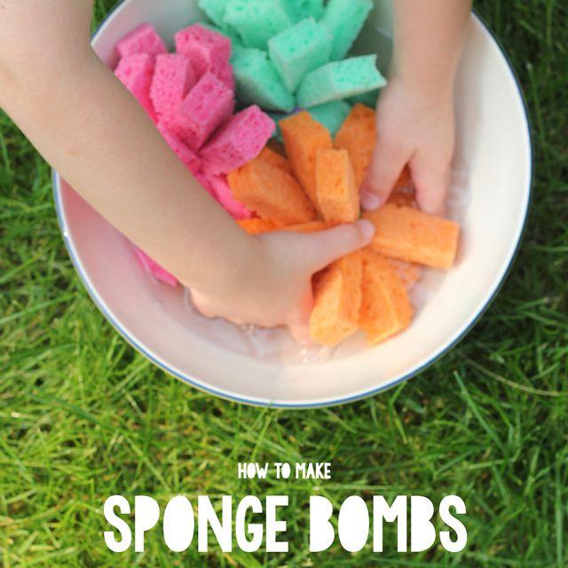 DIY sponge bombs