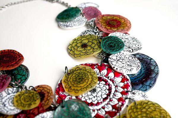 shrink plastic necklace craft