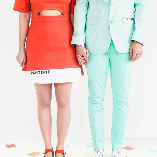 DIY Pantone color combo couples costume