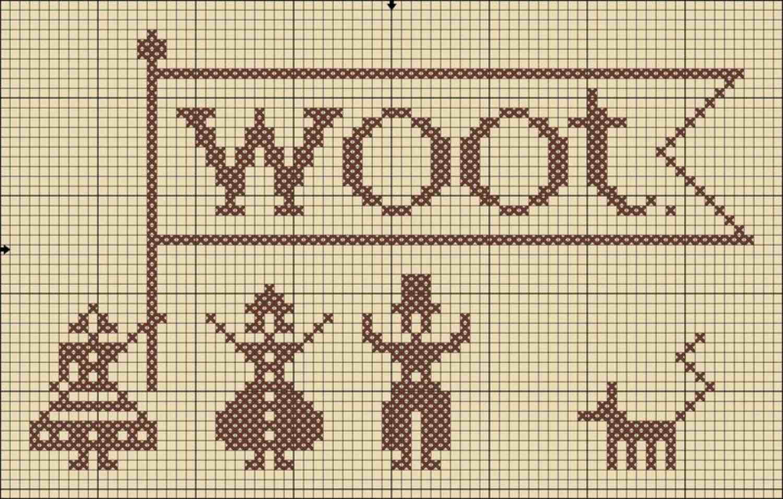 Woot cross stitch
