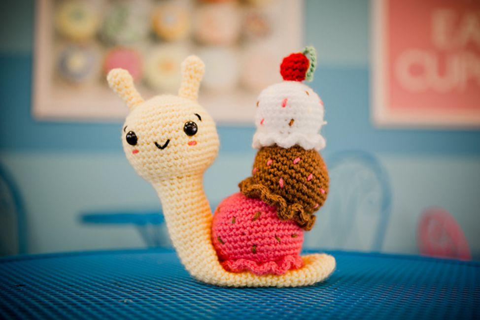Amigurumi Ice Cream Snail Free Crochet Pattern