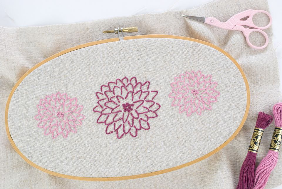 Modern Chrysanthemum Embroidery